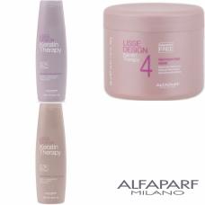 Kit sampon + balsam + masca - Lisse Design - Keratin Therapy - Alfaparf Milano - 3 produse cu 7% discount