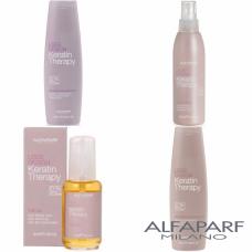 Pachet sampon + balsam + ulei + lapte - Lisse Design - Keratin Therapy - Alfaparf Milano - 4 produse cu 10% discount