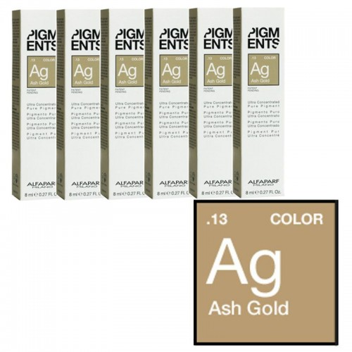 Pigment Concentrat Blond Cenusiu - .13 Ash Gold - Ultra Concentrated Pure Pigment - Alfaparf Milano - 8 Ml