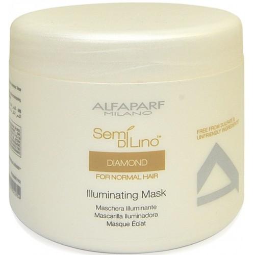 Masca Tratament De Stralucire - Diamond Illuminating Mask - Semi Di Lino - Alfaparf Milano - 500 Ml