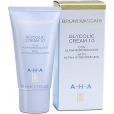 Crema anti-rid hidratanta cu acid glicolic - AHA - Glycolic Cream 10% -Bruno Vassari - 50 ml
