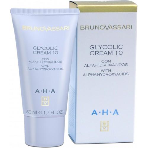 Crema Antirid Hidratanta Cu Acid Glicolic - Aha Glycolic Cream 10% Bruno Vassari