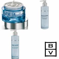 Kit intens hidratant pentru ten normal sau mixt - Aqua Genomics - Bruno Vassari - 3 produse cu 23% discount