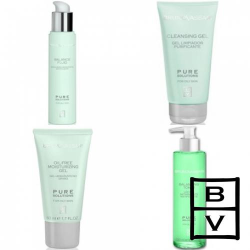 Kit Pentru Ten Gras - Pure Solution - Bruno Vassari - 4 Produse Cu 20% Discount