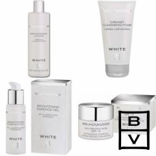 Kit pentru albirea tenului - Whitening Line - Bruno Vassari - 4 produse cu 20% discount
