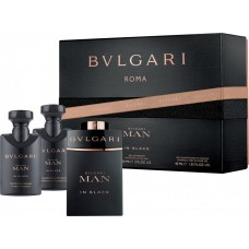 Set Cadou - Roma - Eau de parfum + Shampoo + After Shave - Man In Black - Bvlgari - 60 ml + 2 x 40 ml