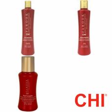 Kit pentru par vopsit - sampon + balsam + tratament - Farouk Royal - CHI - 3 produse cu 25% discount