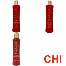 Kit pentru par normal - sampon + balsam + tratament 177 ml - Farouk Royal - CHI - 3 produse cu 25% discount