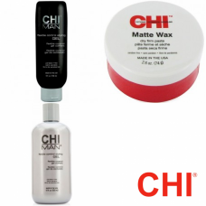 Kit - Flexible Control Styling + Flexible Control Styling Gel + matte wax - Man - CHI - 3 produse cu 13.68% discount