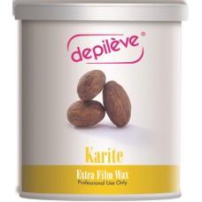 Ceara elastica cu unt de Karite - Karite Extra Film Wax - Depileve - 800 gr