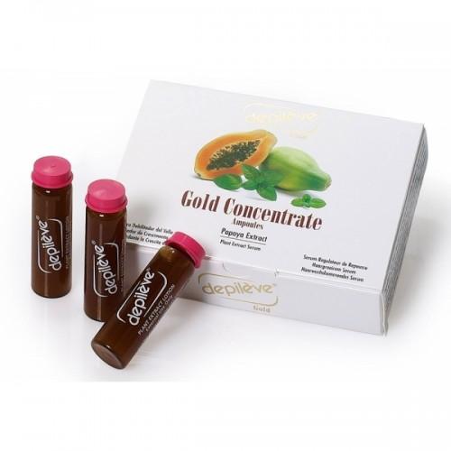 Inhibitor De Crestere A Parului - Gold Concentrate Depileve 3 X 10 Ml