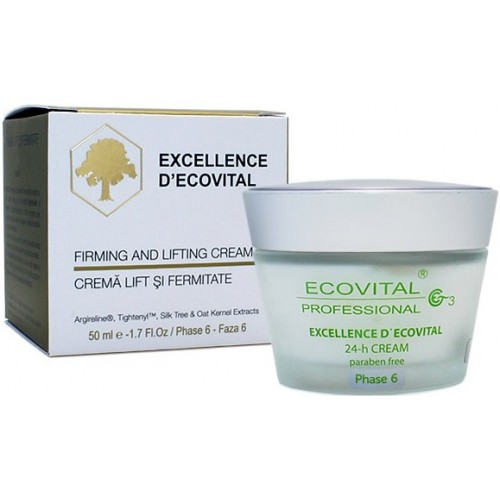 Crema Antirid Pentru Lift Si Fermitate - Firming And Lifting Cream - Excellence D'ecovital - Ecovital - 50 Ml