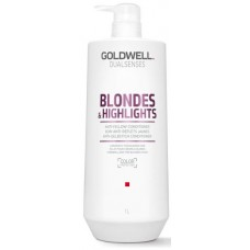 Sampon pentru par blond sau cu suvite - Anti-Yellow Shampoo - Blondes & Highlights - Goldwell - 1000 ml