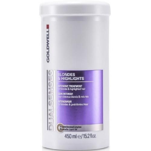 Tratament Reparator Intensiv Pentru Par Blond - Intensive Treatment - Blondes & Highlights - Goldwell - 450 Ml