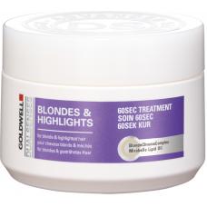 Tratament reparator intensiv pentru parul blond - 60SEC Treatment - Blondes & Highlights - Goldwell - 200 ml