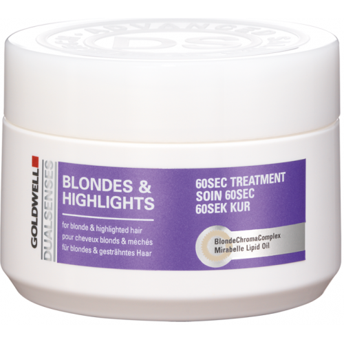 Tratament Reparator Intensiv Pentru Parul Blond - 60sec Treatment - Blondes & Highlights - Goldwell - 200 Ml