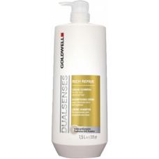 Sampon reparator pentru par uscat - Cream Shampoo - Rich Repair - Goldwell - 1500 ml