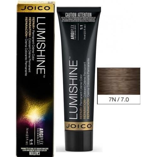 Vopsea De Par Profesionala Pentru Luciu Intens - 7n - Permanent Color Cream - Lumishine - Joico - 74 Ml