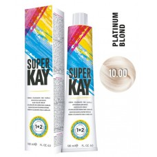 10.00 - Vopsea de par profesionala permanenta - Hair Color Cream - Super Kay - 180 ml