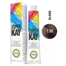 7.00 - Vopsea de par profesionala permanenta - Hair Color Cream - Super Kay - 180 ml