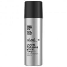 Spray de texura si volum pentru par inchis la culoare - Brunette Texturising Spray - Label.m - 200 ml