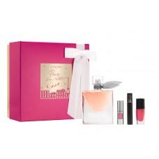 Set apa de parfum + mascara + oja + gloss pentru femei - La Vie Est Belle - Lancome - 50 ml