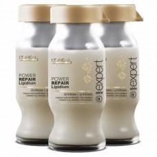 Fiole regenerante - Instant Resurfacing Dose - Power Repair Lipidium - L'oreal Professionnel - 30*10 ml