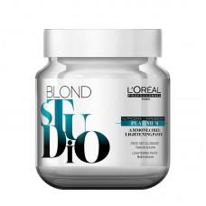 Pasta decoloranta fara amoniac - Lightening Paste - Platinum - Blond Studio - L'Oréal Professionnel - 500 ml