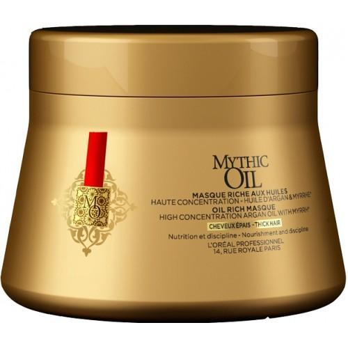 Masca Hranitoare Pentru Par Gros - Oil Rich Masque - Thick Hair - Mythic Oil - L'oreal Professionnel - 200 Ml