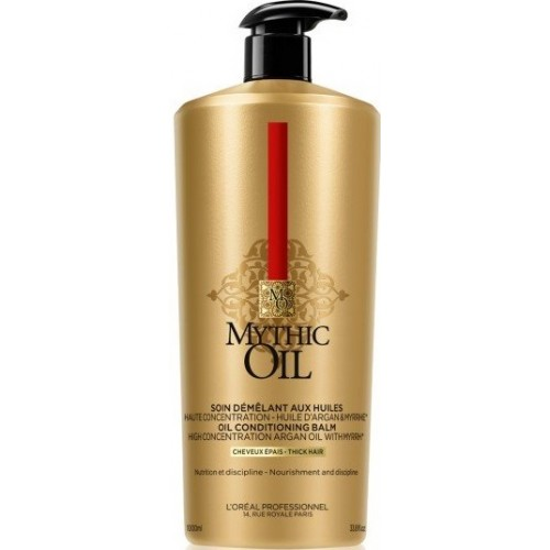 Sampon Hranitor Pentru Par Gros - Shampoo With Argan & Myrrh - Mythic Oil - L'oreal Professionnel - 1 L