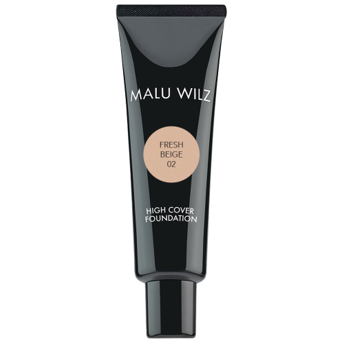 Fond De Ten Fluid Cu Acid Hialuronic (fara Parabeni) - High Cover Foundation - Malu Wilz - 30 Ml - Nr. 02