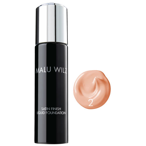 Fond De Ten Cu Efect Satinat Nr. 02 - Satin Finish Liquid Foundation - Malu Wilz - 30 Ml