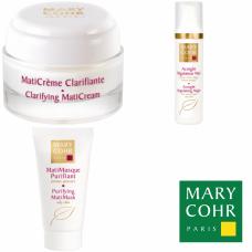 Kit pentru ten gras sau acneic - Purity and mattifier - Mary Cohr - 3 produse cu 20% discount
