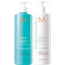 Kit duo pentru hidratare - Hydrating Shampoo And Conditioner - Hydration - Moroccanoil - 2 x 500 ml
