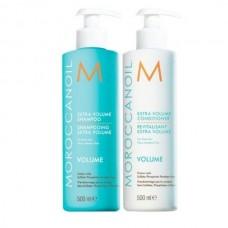 Kit duo pentru volum - sampon si  balsam - Shampoo & Conditioner - Volume - Moroccanoil - 2 x 500 ml