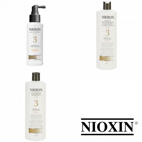 Kit Mare Pentru Par Vopsit Si Fin - Sampon + Balsam + Tratament - Hair System 3 - Nioxin - 3 Produse Cu 18% Discount