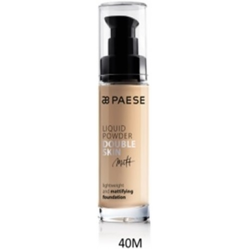 Fond De Ten Matifiant (ten Gras Si Mixt) - Liquid Powder Double Skin Matt - Paese - 30 Ml - Nr. 40m