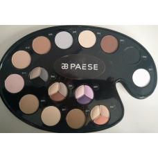 Paleta de farduri intens pigmentate (fara parabeni) - Kashmir Mono Matte Make-Up Palette - Paese - 15 colors