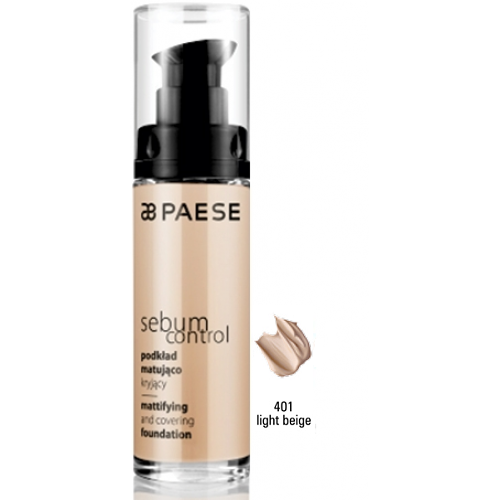 Fond De Ten Matifiant Pe Baza De Apa Si Silicon - Sebum Control Foundation - Paese - 30 Ml - Nr. 401